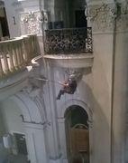Čištění interiéru kostela